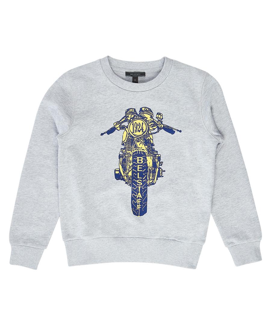 Riley Rider grey & blue graphic jumper Sale - Belstaff
