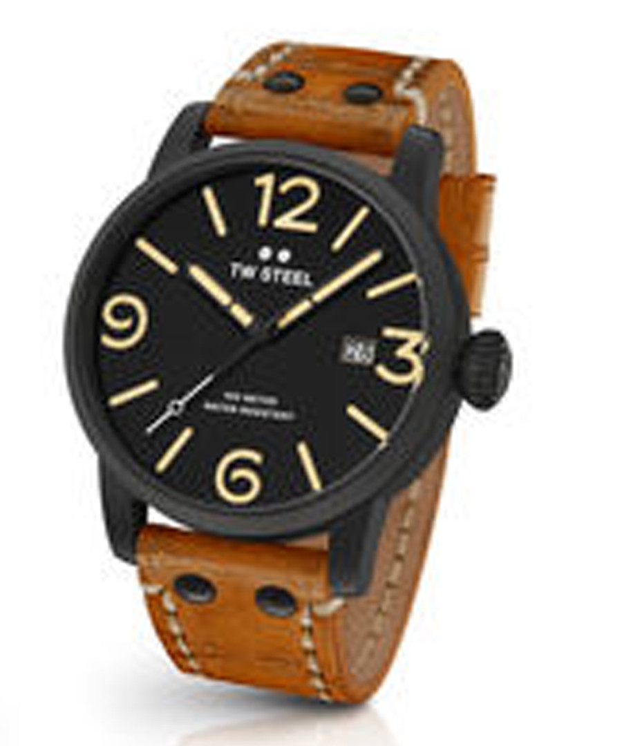 Tan vintage leather strap watch Sale - tw steel
