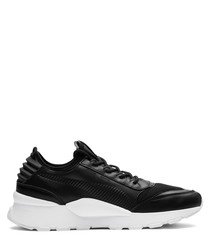RS-0 Sound black leather sneakers