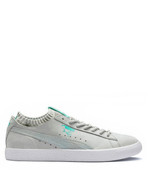 Clyde glacier grey diamond sneakers