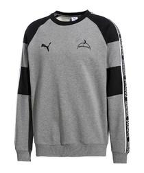 x sankuanz grey crew jumper