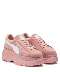 Buffalo mellow rose suede sneakers