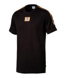 90s retro tape black T-shirt