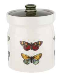 Forest Butterfly earthenware canister