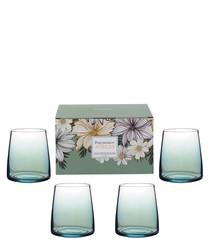 4pc Atrium stemless wine glass set