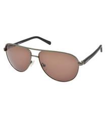 Gunmetal brown aviator sunglasses
