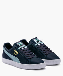 Clyde Core blue leather sneakers