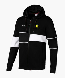 SF black hooded sports jacket