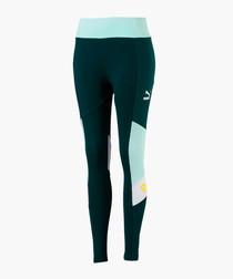 XTG black & blue sports leggings