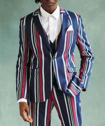 Bold Striped skinny suit jacket