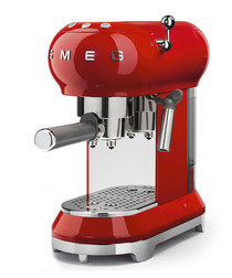 Red retro espresso machine