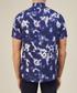 Navy tie-dye printed slim shirt Sale - lockstock Sale