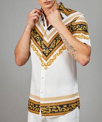 Apollo gold printed short sleeve shirt