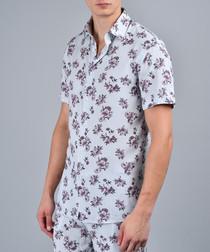 Plaza pink floral printed shirt