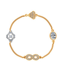 Stacker infinity 14k two-tone gold-plated bracelet