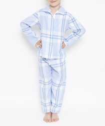 2pc Amelia blue checked pyjama set