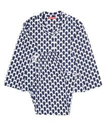 2pc Rosie navy printed pyjama set