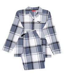 2pc Aspen grey checked pyjama set