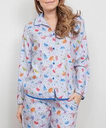 Cristie umbrella printed pyjama top