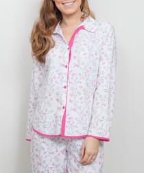 Erica pink floral printed pyjama top