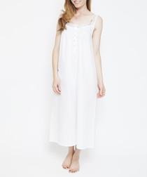 Pearl white pure cotton nightdress