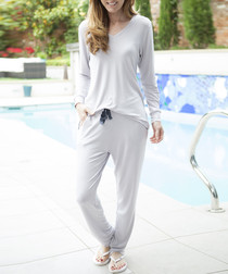 2pc Ivy grey long sleeve pyjama set