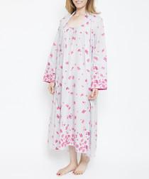 Ivy vintage petal printed robe