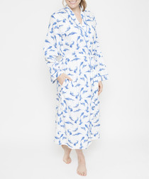 Amelia blue feather long robe