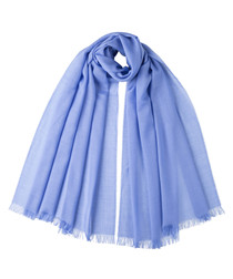Cornflower blue scarf