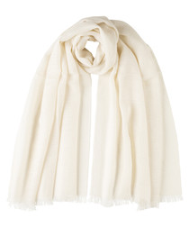 Gold-tone & natural scarf