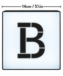 B alphabet lightbox