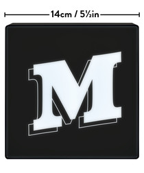 M alphabet lightbox