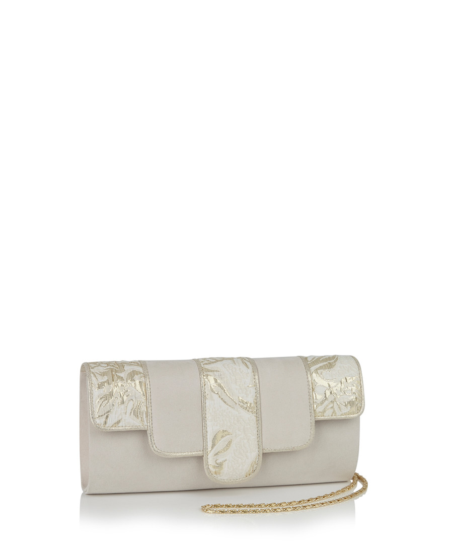 Canberra cream & gold-tone clutch Sale - ruby shoo