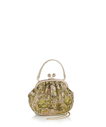 Arco green & gold-tone purse