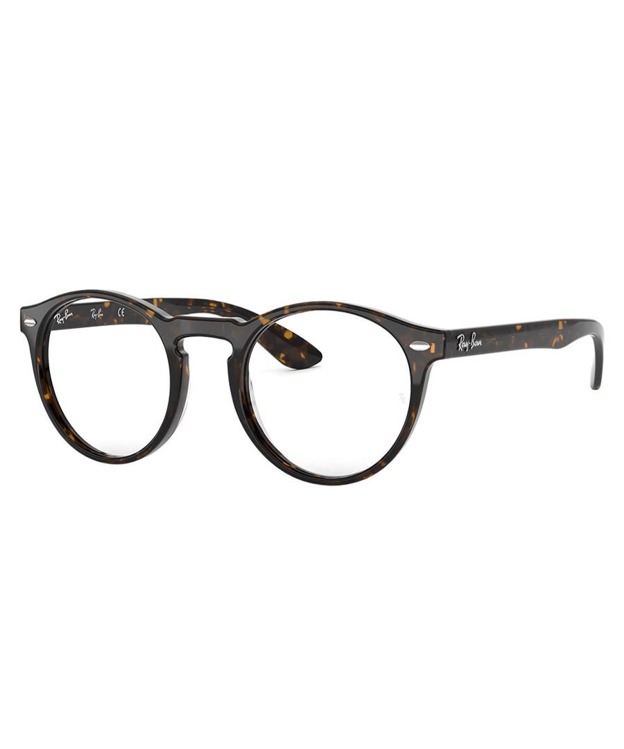 Dark havana round glasses Sale - ray-ban