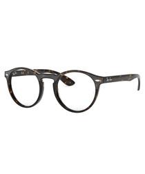 Dark havana round glasses