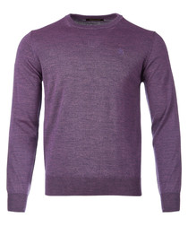 violet wool blend jumper