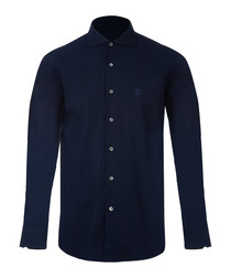 384 blue slim fit shirt