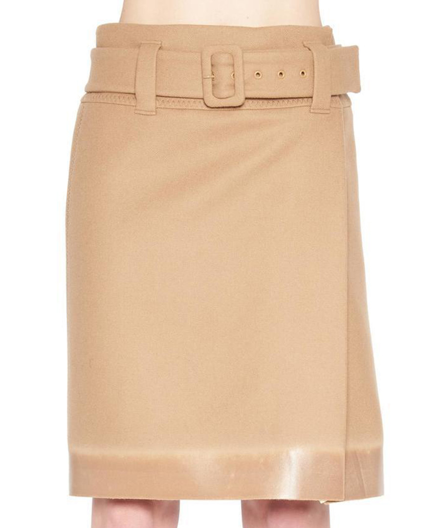 Beige utility belted skirt Sale - prada
