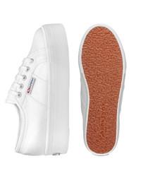 White platform slip-on sneakers