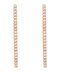 Lily 18k rose gold-plated cubic earrings