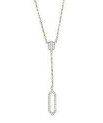 Lily white gold-plated cubic necklace