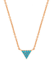 Lupine rose gold-plated arrow necklace