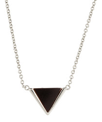 Lupine white gold-plated gem necklace