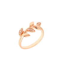 Lily rose gold-plated branch ring