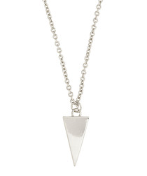 Lupine white gold-plated dagger necklace