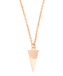 Lupine rose gold-plated dagger necklace