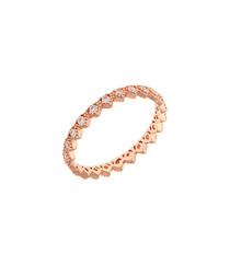 Lupine rose gold-plated cubic ring