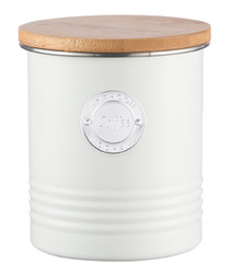 Cream coffee canister 1L