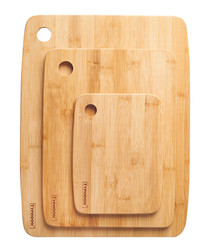 3pc wooden chopping boards